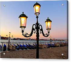 Acrylic Print featuring the photograph Morning In Venice by Barbara Walsh