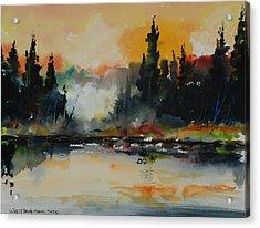 Morning Mists Rising Acrylic Print