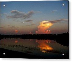 Morning Moon Acrylic Print by Bill Lucas