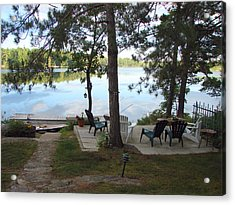 Acrylic Print featuring the mixed media Morning On Pine Lake 2 by Bruce Ritchie