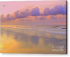 Acrylic Print featuring the photograph Morning On The Beach  by Lydia Holly