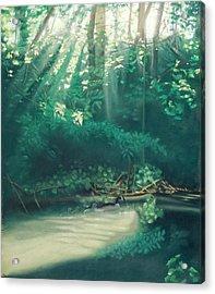 Morning On The Creek Acrylic Print by Bernadette Kazmarski