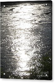 Morning On The River Acrylic Print by Nancy Dole McGuigan