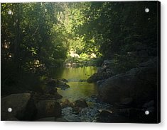 Morning River Acrylic Print by Daniel Milligan