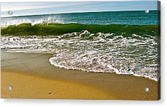 Morning Shore Acrylic Print by Susan Elise Shiebler