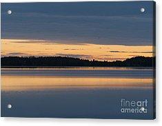 Morning Sun Rising At Arctic Sea Acrylic Print by Heiko Koehrer-Wagner