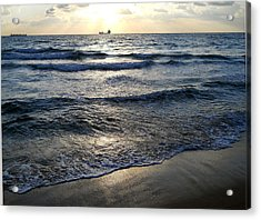 Acrylic Print featuring the photograph Morning Surf by Clara Sue Beym