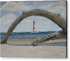 Acrylic Print featuring the painting Morris Island Perspective by Lyn Calahorrano