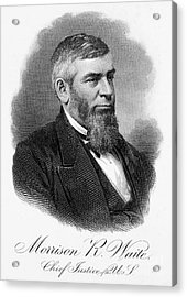 Morrison R. Waite (1816-1888) Acrylic Print by Granger