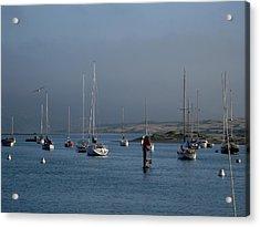 Morro Bay Boats Acrylic Print by Kathy Long