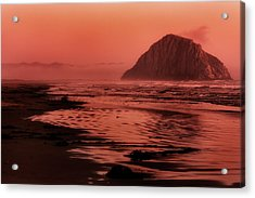 Morro Sunset Acrylic Print by Matt  Trimble