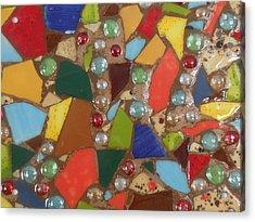 Mosaic Art 6 Acrylic Print by Gail Schmiedlin
