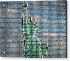 Mosaic Liberty Acrylic Print by Sarah McKoy