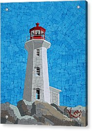Mosaic Lighthouse Acrylic Print by Kerri Ertman