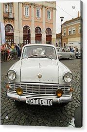 Moscvich Old Car Acrylic Print by Odon Czintos