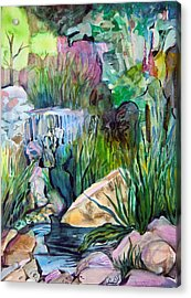 Moses In The Bull Rushes Acrylic Print by Mindy Newman