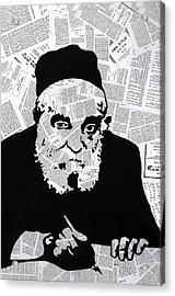 Moshe Feinstein Acrylic Print by Anshie Kagan