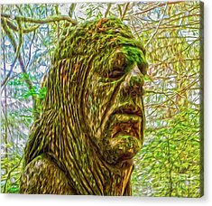 Moss Man Acrylic Print by Gregory Dyer