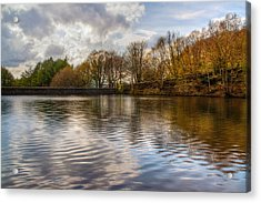 Mosshouse Wood Reservoir Acrylic Print by Julie L Hoddinott