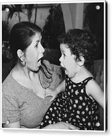 Mother And Child Acrylic Print by Miguel Capelo