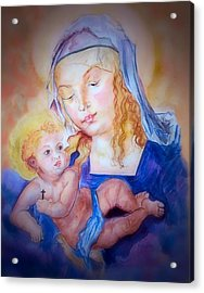 Mother And Child Acrylic Print by Myrna Migala