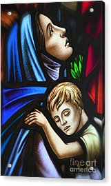 Mother And Child Stained Glass Acrylic Print
