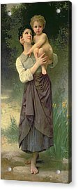 Mother And Child Acrylic Print by William Adolphe Bouguereau