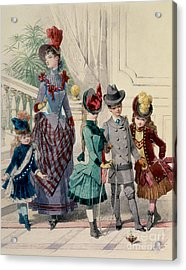 Mother And Children In Indoor Costume Acrylic Print by Jules David