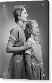 Mother And Daughter (12-13), Profile Acrylic Print by George Marks