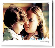 Mother And Son Acrylic Print