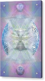 Mother Earth Dove And Chalice Acrylic Print