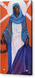 Mother Mary In Sorrow Acrylic Print by Mary DuCharme