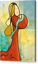 Mother N Child Acrylic Print by Melisa Meyers
