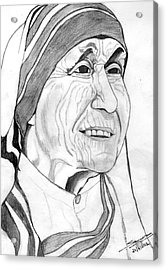Mother Of Love Acrylic Print by Shashi Kumar