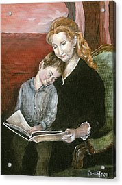 Mother Reading To Son Acrylic Print