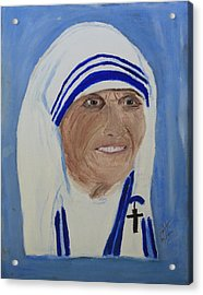 Mother Theresa Acrylic Print by Swabby Soileau