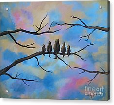 Acrylic Print featuring the painting Motherhood by Stacey Zimmerman
