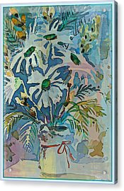 Mothers Daise Acrylic Print by Mindy Newman