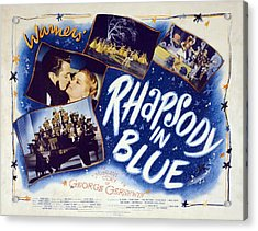Motion Picture Poster For Rhapsody In Acrylic Print by Everett