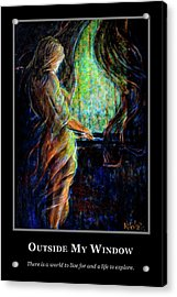Acrylic Print featuring the painting Motivational - Explore by Nik Helbig