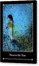 Acrylic Print featuring the painting Motivational - Uniqueness by Nik Helbig