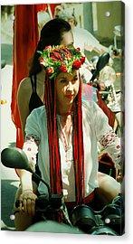 Motor-bride Acrylic Print by Zhanna Vozbranna