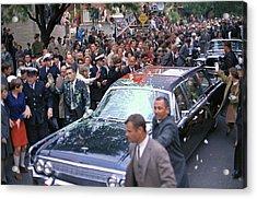 Motorcade Of President Lyndon Johnson Acrylic Print by Everett
