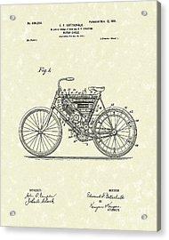 Motorcycle 1901 Patent Art Acrylic Print