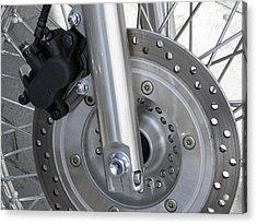 Motorcycle Disc Brake Acrylic Print by Tony Craddock