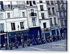 Motorcycle Row Acrylic Print by Kim Wilson