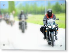 Motorcyclists Acrylic Print
