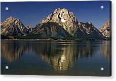 Acrylic Print featuring the photograph Moujnt Moran 5 by Marty Koch