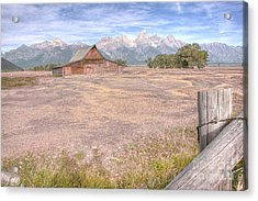 Acrylic Print featuring the photograph Moulton Barn On Mormon Row Late Summer 2012 B by Katie LaSalle-Lowery