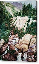 Mounrain Creek Falls Acrylic Print by Vikki Wicks